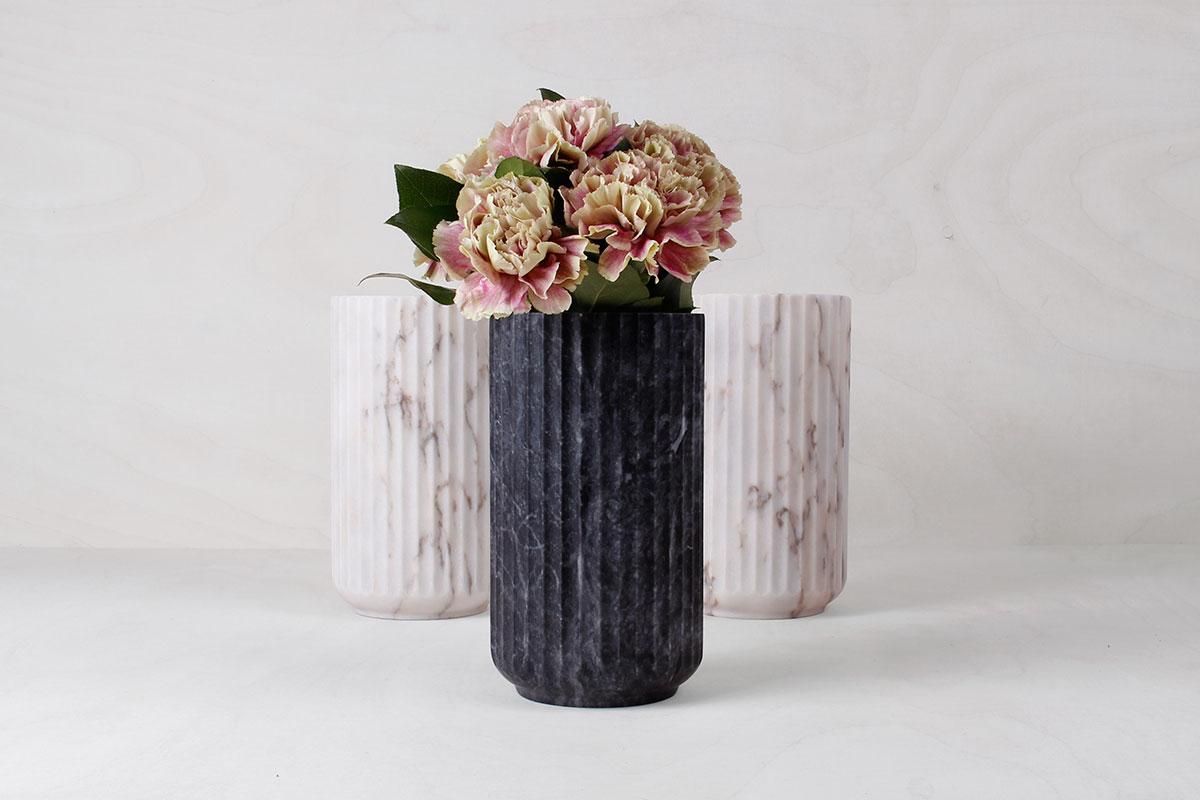 lyngby vase i marmor fra lyngby by hifling k b den her. Black Bedroom Furniture Sets. Home Design Ideas