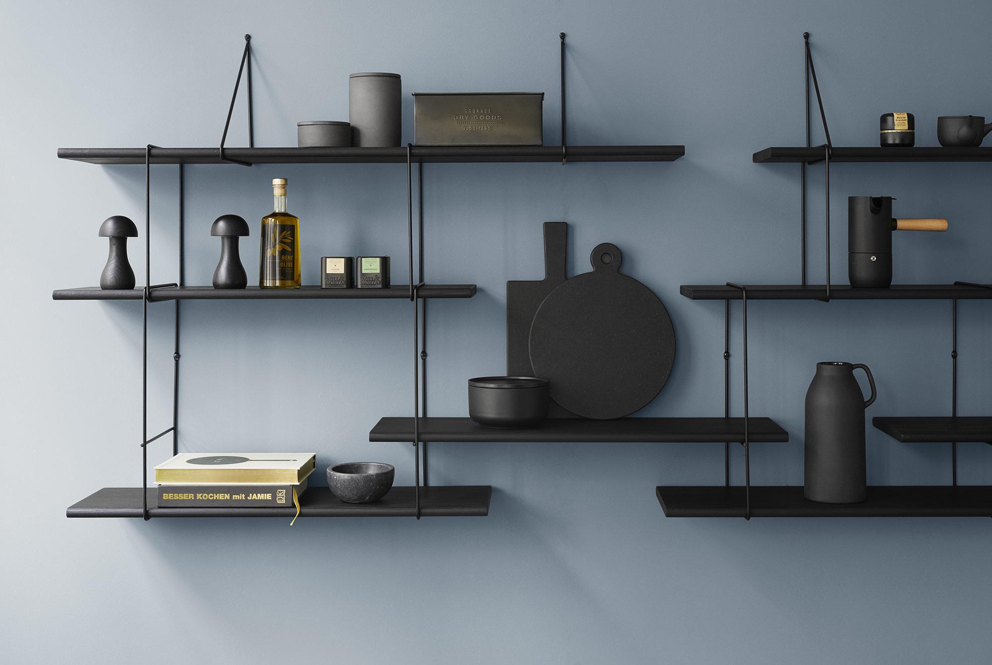 link true black shelving system k b den her fri fragt. Black Bedroom Furniture Sets. Home Design Ideas
